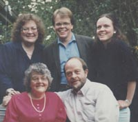 Jewel, Ron and their three children: Annette, Mark & Alyse, ca 1990